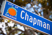 Chapman Ave in Old Towne Orange California