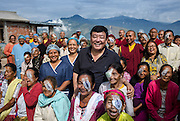 Kalimpong Eye Camp 2016. Dr Sanduk Ruit and his Tilganga opthalmic team working with Kalimpong eye centre staff and monks from nearby Lava Monastary.