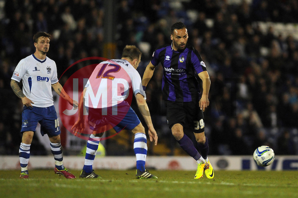 Bristol Rovers' Kaid Mohamed plays a pass - Photo mandatory by-line: Dougie Allward/JMP - Mobile: 07966 386802 01/04/2014 - SPORT - FOOTBALL - Bury - Gigg Lane - Bury v Bristol Rovers - Sky Bet League Two
