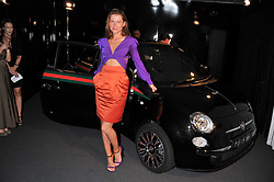 JULIA HEATH at a party to launch the Gucci designed Fiat 500 customized by Gucci Creative Director Frida Giannini in collaboration with FIAT's Centro Stile, held at Fiat, 105 Wigmore Street, London on 27th June 2011.