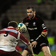 Watford, GREAT BRITAIN, Saracens, Andy FARRELL lookes for a way round Denis AVRIL, during the Pool 4 Rd 5  Heineken Cup game Saracens vs Biarittz at Vicarage Road, Hert's  12/01/2008  [Photo, Peter Spurrier/Intersport-images].....Watford, GREAT BRITAIN, during the Pool 4 Rd 5  Heineken Cup game Saracens vs Biarittz at Vicarage Road, Hert's  26/04/2007  [Photo, Peter Spurrier/Intersport-images].....