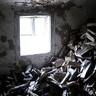 a room used like a wood lumber
