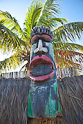 Tiki god sculpture Rest Beach Key West, Florida