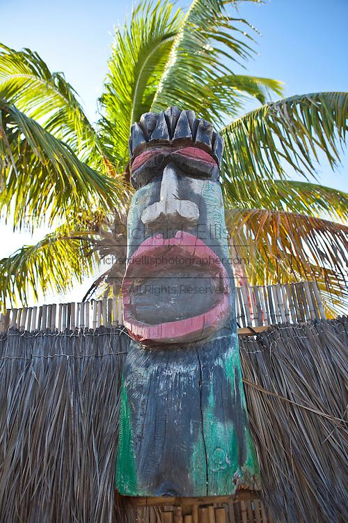 Tiki god sculpture Rest Beach Key West, Florida