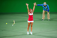 Monica Puig of Puerto Rico wins the Gold Medal in the Women's Tennis Singles on day eight of the XXXI 2016 Olympic Summer Games in Rio de Janeiro, Brazil.<br /> Picture by EXPA Pictures/Focus Images Ltd 07814482222<br /> 13/08/2016<br /> *** UK & IRELAND ONLY ***<br /> <br /> EXPA-EIB-160814-0007.jpg