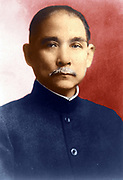 Sun Yat-Sen (1866-1925) Chinese revolutionary and political leader who played an instrumental role in overthrowing the Qing Dynasty in October 1911, the last imperial dynasty of China.  Nationalist