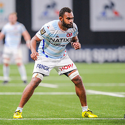 Leone Nakarawa of Racing 92 during the Top 14 match between Racing and Toulouse on February 17, 2019 in Nanterre, France. (Photo by Sandra Ruhaut/Icon Sport) - Leone NAKARAWA - Paris (France)