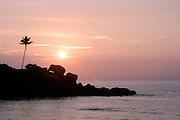 beach sunset, kerala, india