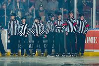 KELOWNA, BC - FEBRUARY 7:  BC minor hockey officials enter the ice to celebrate Minor Hockey Officials day at the Kelowna Rockets against the Portland Winterhawks at Prospera Place on February 7, 2020 in Kelowna, Canada. (Photo by Marissa Baecker/Shoot the Breeze)