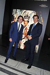Left to right, STEPHEN WEBSTER and ERIC DEARDORFF CEO of Garrard at a private view of Photographs by Cecil Beaton celebrating the diamond jubilee of HM The Queen Elizabeth 11 at the Victoria & Albert Museum, Cromwell Road, London on 6th February 2012.
