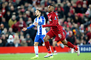 Liverpool forward Daniel Sturridge (15) during the Champions League Quarter-Final Leg 1 of 2 match between Liverpool and FC Porto at Anfield, Liverpool, England on 9 April 2019.