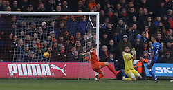 James Collins of Luton Town scores his sides opening goal - Mandatory by-line: Joe Dent/JMP - 19/01/2019 - FOOTBALL - Kenilworth Road - Luton, England - Luton Town v Peterborough United - Sky Bet League One