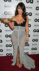 KIM KARDASHIAN winner of the Woman Award at the GQ Men Of The Year 2014 Awards in association with Hugo Boss held at The Royal Opera House, London on 2nd September 2014.