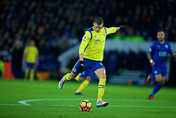 LEICESTER, ENGLAND - Boxing Day Monday, December 26, 2016: Everton's Kevin Mirallas scores the first goal against Leicester City during the FA Premier League match at Filbert Way. (Pic by David Rawcliffe/Propaganda)