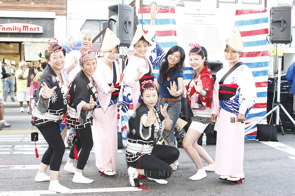 Aug. 24, 2008; Los Angeles, CA -Nisei Week Festival Ondo and Closing Ceremonies on First Street in Little Tokyo...Photo credit: Darrell Miho