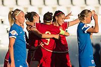 Spain's Marta Torrejon and Veronica Boquete during the match of  European Women's Championship 2017 at Leganes, between Spain and Finland. September 20, 2016. (ALTERPHOTOS/Rodrigo Jimenez)