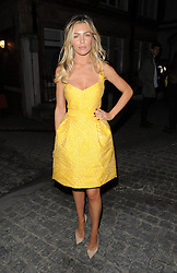Model Abbey Clancy attends the Giles Deacon Catwalk Show at Stationer's Hall, during London Fashion Week. UK. 17/09/2012<br />BYLINE MUST READ : GOTCHAIMAGES.COM<br /><br />Copyright by © Gotcha Images Ltd. All rights reserved.<br />Usage of this image is conditional upon the acceptance <br />of Gotcha Images Ltd, terms and conditions available at<br />www.gotchaimages.com
