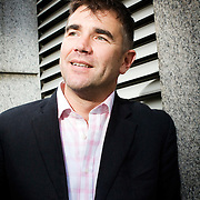 Documentary film maker Ivan Massow who has made a film with Joan Collins called 'Banksy's coming to dinner'..London UK