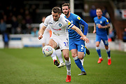 Wycombe midfielder Matthew Bloomfield (10) on the ball during the EFL Sky Bet League 1 match between Peterborough United and Wycombe Wanderers at London Road, Peterborough, England on 2 March 2019.