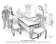 "The Latest Furniture. Patient (being shown into very modern consulting-room). ""I say, I didn't come to be operated on!"""