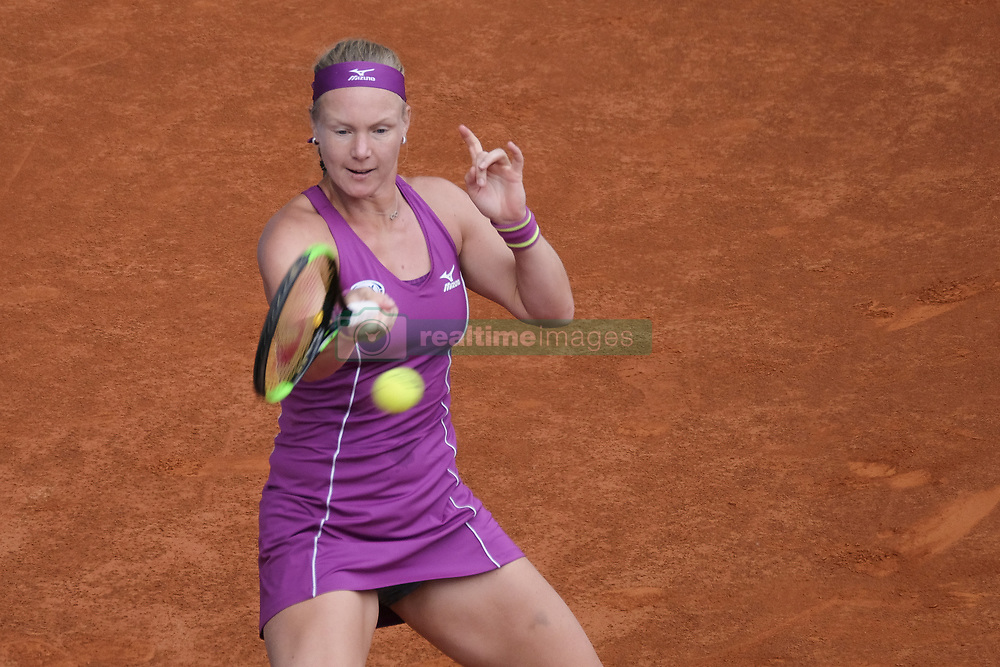 May 11, 2018 - Madrid, Spain - Kiki Bertens against  Caroline Garcia during day seven of the Mutua Madrid Open tennis tournament at the Caja Magica on May 11, 2018 in Madrid, Spain. (Credit Image: © Oscar Gonzalez/NurPhoto via ZUMA Press)