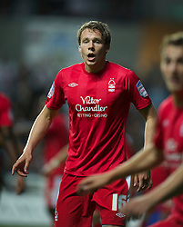 SWANSEA, WALES - Monday, May 15, 2011: Nottingham Forest's Chris Gunter in action against Swansea City during the Football League Championship Play-Off Semi-Final 2nd Leg match at the Liberty Stadium. (Photo by David Rawcliffe/Propaganda)