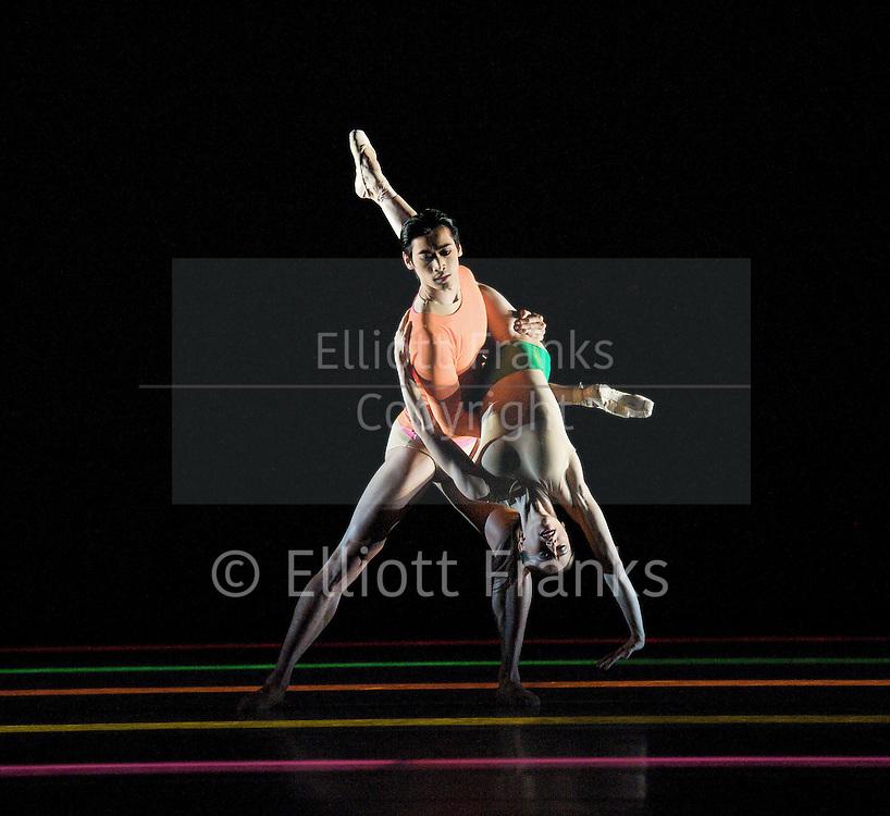 The Royal Ballet Triple Bill <br /> at The Royal Opera House, Covent Garden, London, Great Britain <br /> 7th October 2011 <br /> <br /> General Rehearsal <br /> <br /> Limen <br /> <br /> Choreography<br /> Wayne McGregor<br /> <br /> Music<br /> Kaija Saariaho<br /> <br /> Set and Video designs<br /> Tatsuo Miyajima<br /> <br /> Costume designs<br /> Moritz Junge<br /> <br /> Lighting design<br /> Lucy Carter<br /> <br /> Conductor<br /> Barry Wordsworth<br /> Principal<br /> <br /> Marianela Nun?ez<br /> Ryoichi Hirano<br /> <br /> Cellist<br /> Anssi Karttunen<br /> <br /> <br /> Photograph by Elliott Franks