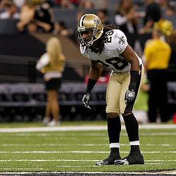 2009 August 14: New Orleans Saints safety Usama Young (28) on the field during a preseason opener between the Cincinnati Bengals and the New Orleans Saints at the Louisiana Superdome in New Orleans, Louisiana.