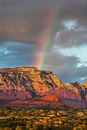 Rainbow over Red Rock/Secret Mountain Wilderness and Sedona, AZ.