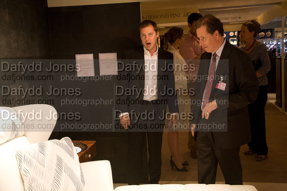 MATHEW FREUD AND VISCOUNT LINLEY, The Opening of the Grosvenor House Antiques Fair. Grosvenor House. Park Lane. London. 11 June 2008.  *** Local Caption *** -DO NOT ARCHIVE-© Copyright Photograph by Dafydd Jones. 248 Clapham Rd. London SW9 0PZ. Tel 0207 820 0771. www.dafjones.com.