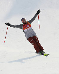 PYEONGCHANG, Feb. 18, 2018  Nick Goepper of the United States competes during the men's ski slopestyle of freestyle skiing at the 2018 PyeongChang Winter Olympic Games, at Phoenix Snow Park, South Korea, on Feb. 18, 2018. Nick Goepper won the silver medal with 93.60 points. (Credit Image: © Wu Zhuang/Xinhua via ZUMA Wire)