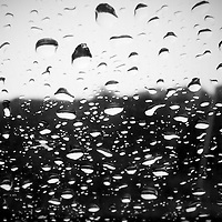 Rain Drops in Black and White