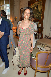 the MARCHIONESS OF WORCESTER at a party to celebrate the publication of 'A Girl From Oz' by Lyndall Hobbs held at Flat 1, 165 Cromwell Road, London on 12th May 2016.