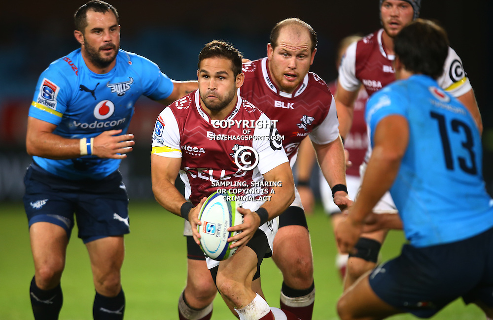 Pretoria, SOUTH AFRICA, - Friday 18 March, Cobus Reinach of the Cell C Sharks during the Vodacom Bulls vs The Cell C Sharks Super rugby match at Loftus Versfeld, Pretoria, South Africa. (Photo by Steve Haag)<br /> <br /> images for social media must have consent from Steve Haag