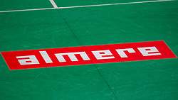 Floorsticker Almere during the Dutch Championships Badminton on February 2, 2020 in Topsporthal Almere, Netherlands