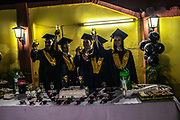 Students take part on a graduation party of  the Athenaeum of Guaraní Language and Culture, being names as teachers  in Asuncion, Paraguay, Thursday, Dec., 14, 2017 in Asuncion, Paraguay, Thursday, Dec.14, 2017. Paraguay today is trying to promote a positive image of Guaraní language but bilingual education programme is under resourced and has failed to reach many areas of rural or impoverished parts of Paraguay, where Guaraní speakers are still schooled through Spanish, leading many to drop out. Part of the issue is that the language taught in schools is not that of the streets, with teachers tending to be puritanical and teaching words that have long since fallen out of use. (Dado Galdieri for The New York Times)