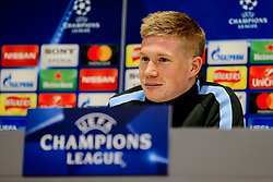Kevin De Bruyne of Manchester City during the press conference - Mandatory by-line: Matt McNulty/JMP - 03/04/2018 - FOOTBALL - Manchester City - Press conference ahead of Champions League Quarter Final against Liverpool