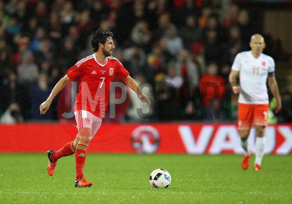 Joe Allen of Wales - Mandatory byline: Robbie Stephenson/JMP - 07966 386802 - 13/11/2015 - FOOTBALL - Cardiff City Stadium - Cardiff, Wales - Wales v Netherlands - International Friendly