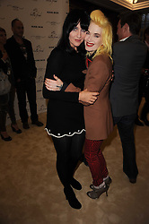 Left to right, SUSIE BICK and PAM HOGG at a screening of a short film directed by Willem Jaspert and Stephen Langmanis to celebrate the launch of Bella Freud and Susie Bick's first design collaboration held at Town Hall, 8 Patriot Square, London E2 on 6th September 2010.