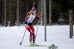 Lisa Theresa Hauser (AUT) during Women 12.5 km Mass Start at day 4 of IBU Biathlon World Cup 2015/16 Pokljuka, on December 20, 2015 in Rudno polje, Pokljuka, Slovenia. Photo by Urban Urbanc / Sportida