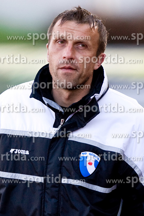 Assistant coach of Gorica Miran Srebrnic at football match of 25th Round of 1st Slovenian League  between NK Interblock and NK Hit Gorica, on March 31, 2010, in ZAK Stadium, Ljubljana, Slovenia. Gorica defeated Interblock 5-0. (Photo by Vid Ponikvar / Sportida)