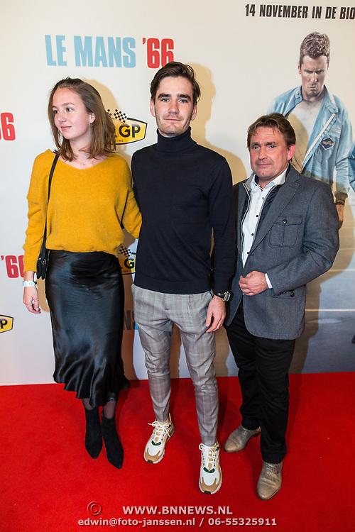 NLD/Amsterdam/20191113 - Filmpremiere Le Mans '66, Job van Uitert met partner en vader