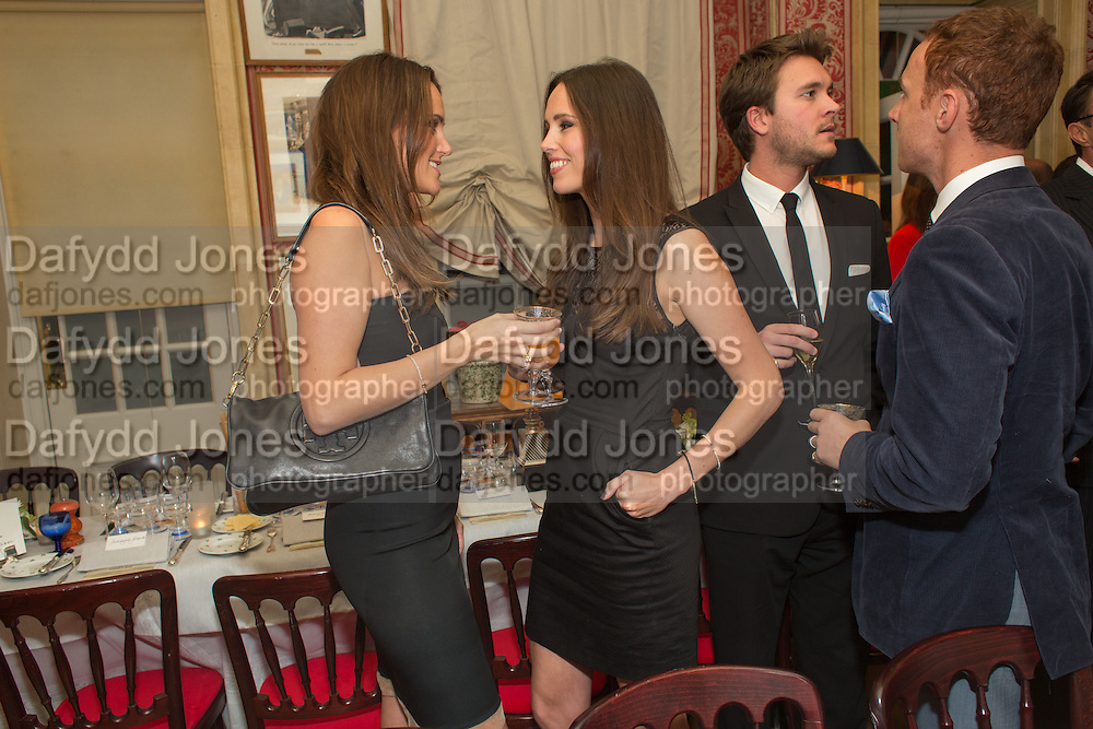 AMY BISTERZO; ELLE CARING; BEN CARING; LIVIO BISTERZO, Charles Finch and  Jay Jopling host dinner in celebration of Frieze Art Fair at the Birley Group's Harry's Bar. London. 10 October 2012.