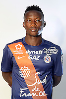 Casimir NINGA - 06.10.2015 - Photo officielle Montpellier - Ligue 1<br /> Photo : De Hullessen / Mhsc / Icon Sport