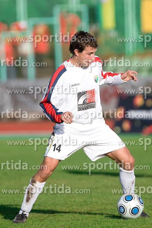 Tim Lo Duca of Rudar at football match of Round 17 of Slovenian first league between NK Interblock and NK Rudar Velenje,  on November 7, 2009, in ZAK, Ljubljana, Slovenia.  Interblock won 3:1. (Photo by Vid Ponikvar / Sportida)