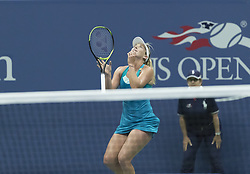 September 6, 2017 - New York, New York, United States - Coco Vandeweghe of USA celebrates victory against Karolina Pliskova of Czech Republic at US Open Championships at Billie Jean King National Tennis Center  (Credit Image: © Lev Radin/Pacific Press via ZUMA Wire)