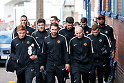 Dundee United players arrive at Dens Park ahead of the Betfred Scottish Cup match between Dundee and Dundee United at Dens Park, Dundee, Scotland on 9 August 2017. Photo by Craig Doyle.
