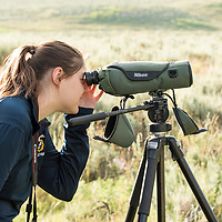 National Geographic Student Expeditions high school students spent a day with a guide (Josh Welter) from Yellowstone Forever in the Lamar Valley hiking, looking for wildlife, and photographing during the 2017 Yellowstone Photo Workshop in Yellowstone National Park, Wyoming, United States.