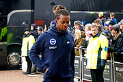 Brighton and Hove Albion defender Gaetan Bong (3) during the Premier League match between Huddersfield Town and Brighton and Hove Albion at the John Smiths Stadium, Huddersfield, England on 9 December 2017. Photo by Simon Davies.