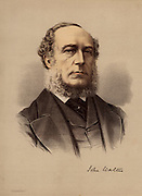 John Walter the Younger (1818-1894) English newspaper proprietor and politician. Chief proprietor of 'The Times', London. Introduced the Walter printing press in 1869. A Member of Parliament from 1845-1885.  From 'The Modern Portrait Gallery' (London, c1880).